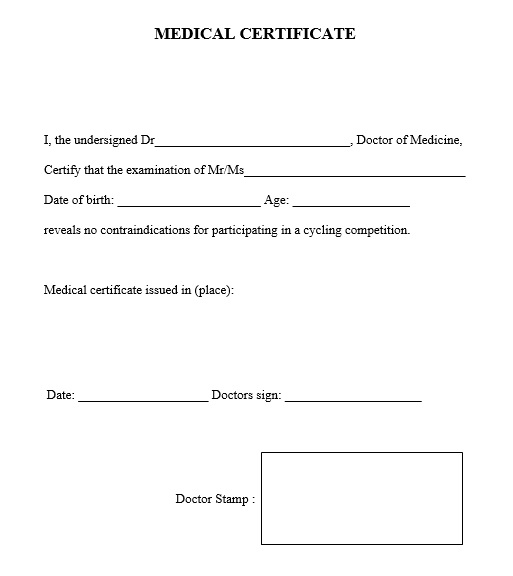 Free Sample Medical Certificate Templates  Printable Samples