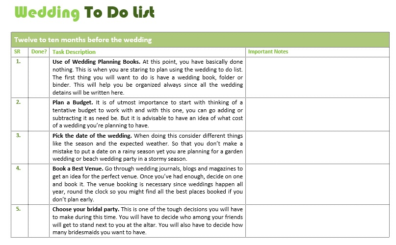 Sample To Do List Here Is Preview Of This First Sample Wedding To – Sample to Do Checklist Template