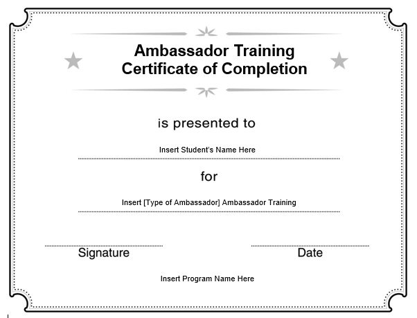 11 Free Sample Training Certificate Templates Printable Samples