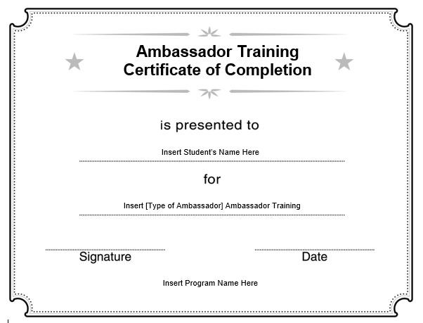 11 Free Sample Training Certificate Templates - Printable