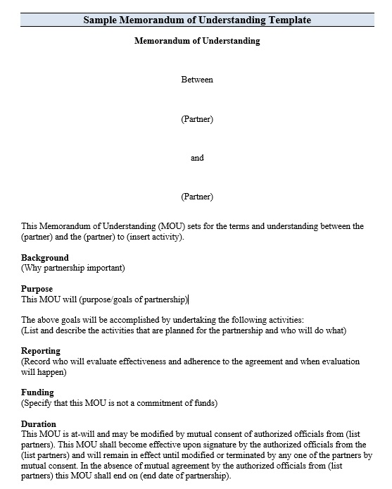 Here Is Preview Of Another Sample Memorandum Agreement Template Created  Using MS Word,