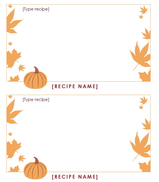 thanksgiving word template