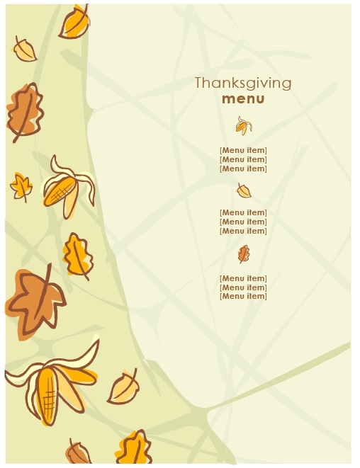 7 free sample thanksgiving menu templates printable samples here is preview of another sample thanksgiving menu template created using ms word maxwellsz