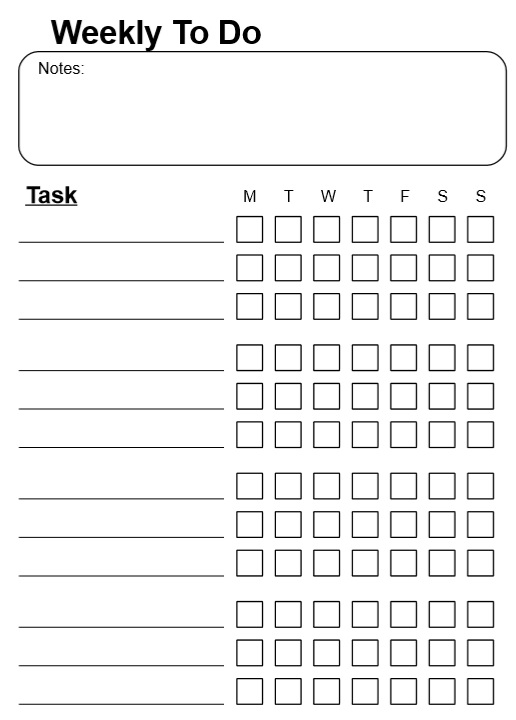 Weekly To Do List Template Weekly Business ToDo List Template – Sample to Do Checklist Template