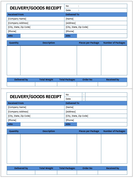 Here Is Preview Of Another Sample Goods Delivery Receipt Template Created  Using MS Word,  Delivery Order Sample