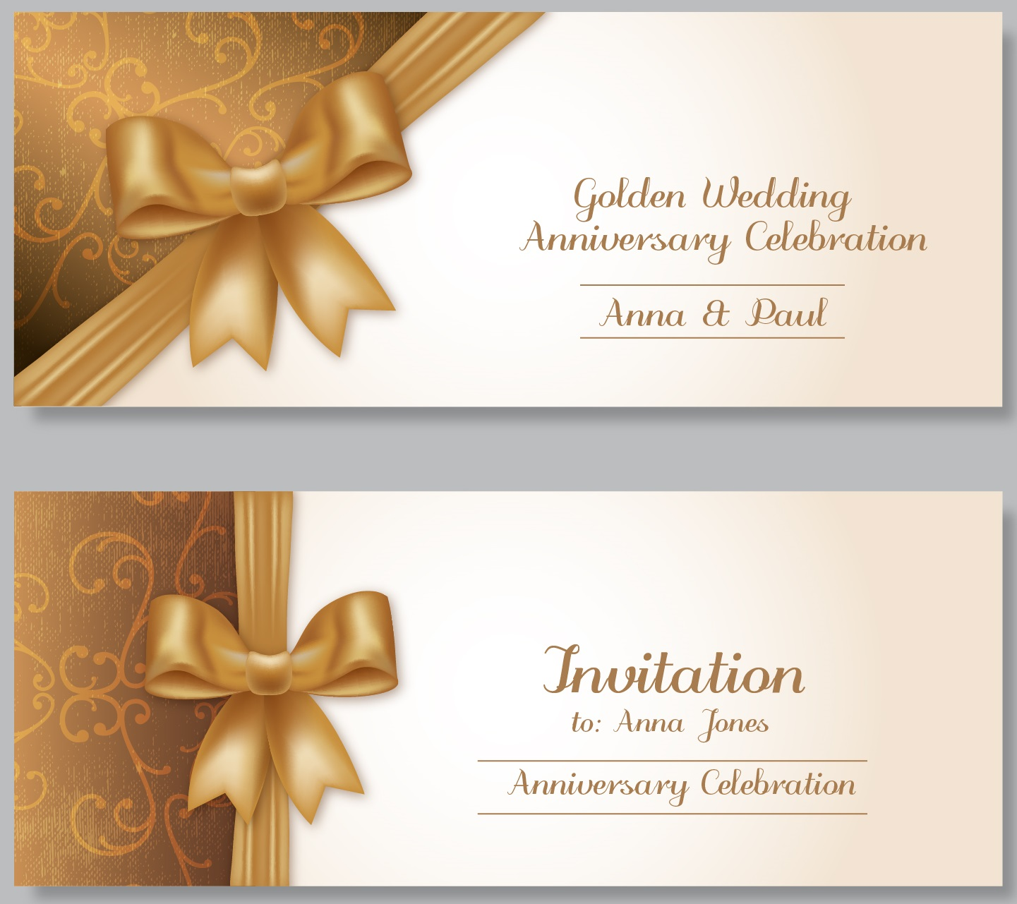 9 free sample anniversary party invitation templates printable here is preview of another sample anniversary party invitation template created using ms word stopboris Image collections