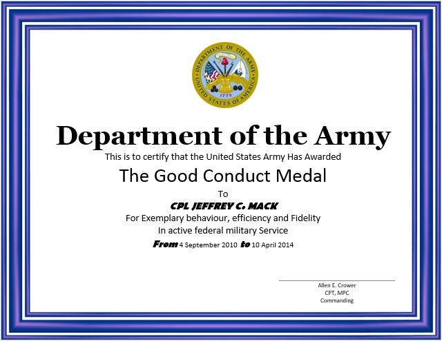 Here Is Preview Of This First Sample Good Conduct Certificate Template  Created Using MS Word,  Certificates Templates