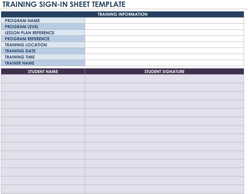 Free Sample Volunteer SignUp Sheet Templates  Printable Samples