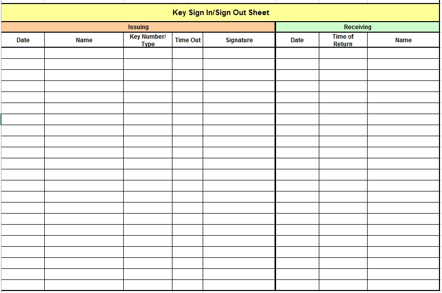 9 Free Sample Child Care Sign In Sheet Templates – Printable Samples