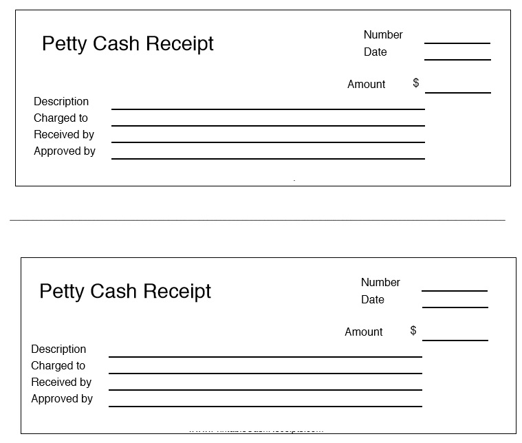 8 free sample petty cash receipt templates printable samples