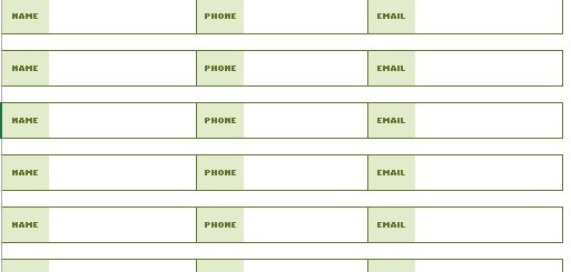 Printable Sign In Sheets – Printable Samples