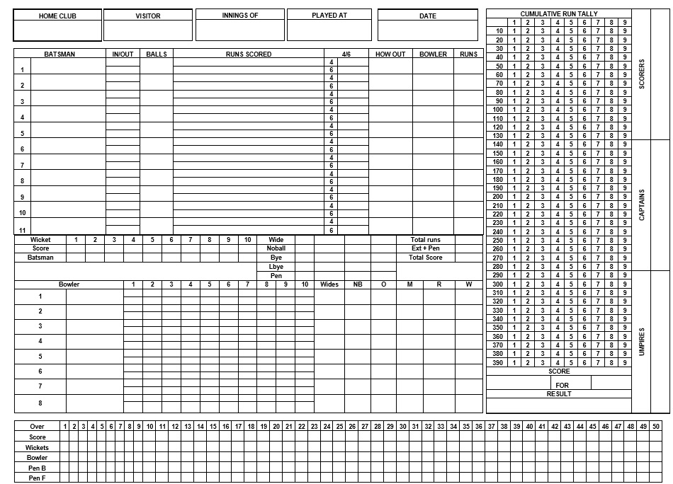 Scrabble Score Sheet  Sample Football Score Sheet   Documents