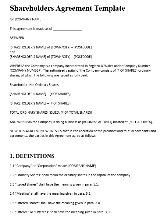 10 Free Sample Stockholders Redemption Agreement Templates
