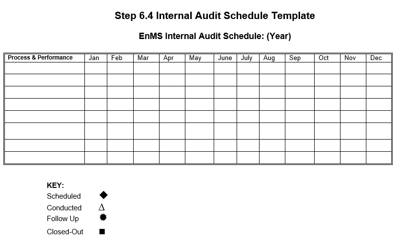 Free Sample Audit Schedule Templates  Printable Samples