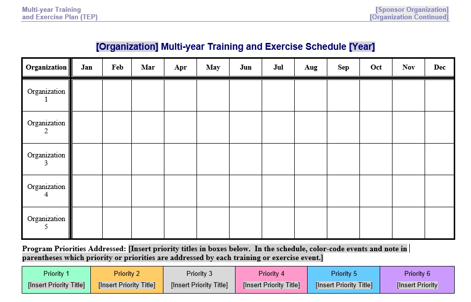 8 Free Sample Exercise Schedule Templates – Printable Samples