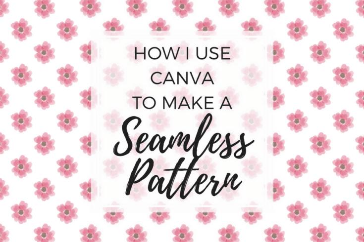 Seamless pattern, seamless design, Canva tutorial, digital paper, free printables, floral pattern