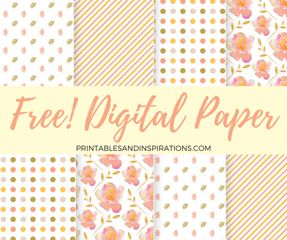 free scrapbooking   free digital paper   floral pattern   autumn colors