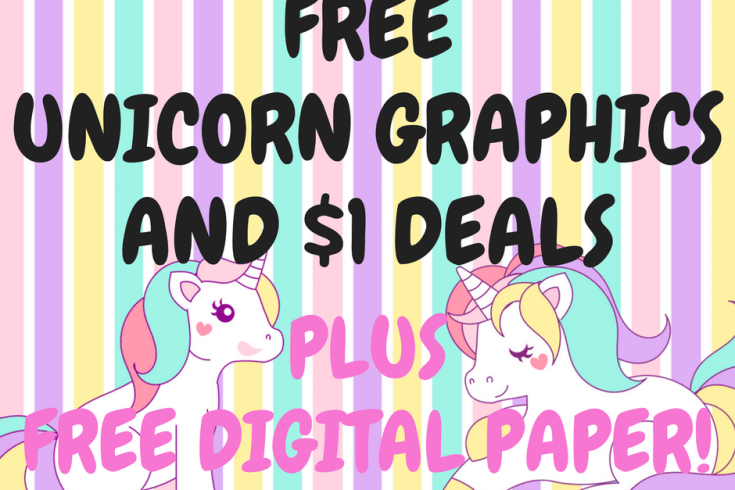 unicorn free graphics, free digital paper, scrapbook paper