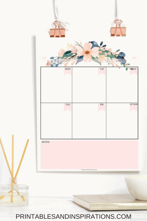 Pretty 2018 Calendar And Monthly Planner Free Printables