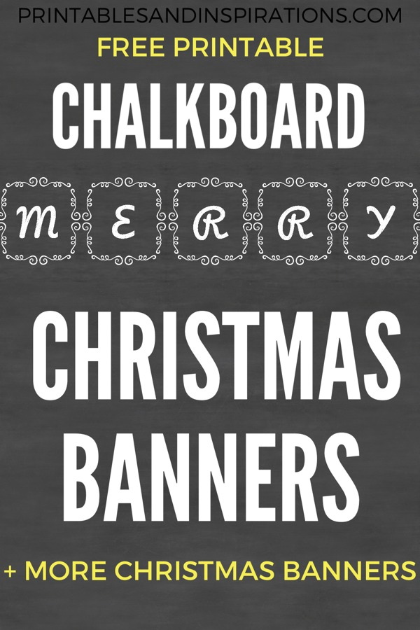 Free Christmas Banners! Cute letter banner buntings, free printable Christmas decoration ideas. #merrychristmas #freeprintable #printablesandinspirations