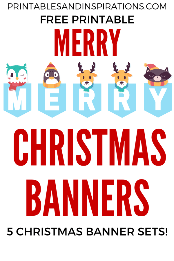 image regarding Printable Christmas Decorations Cutouts titled Free of charge Printable Merry Xmas Banners! - Printables and