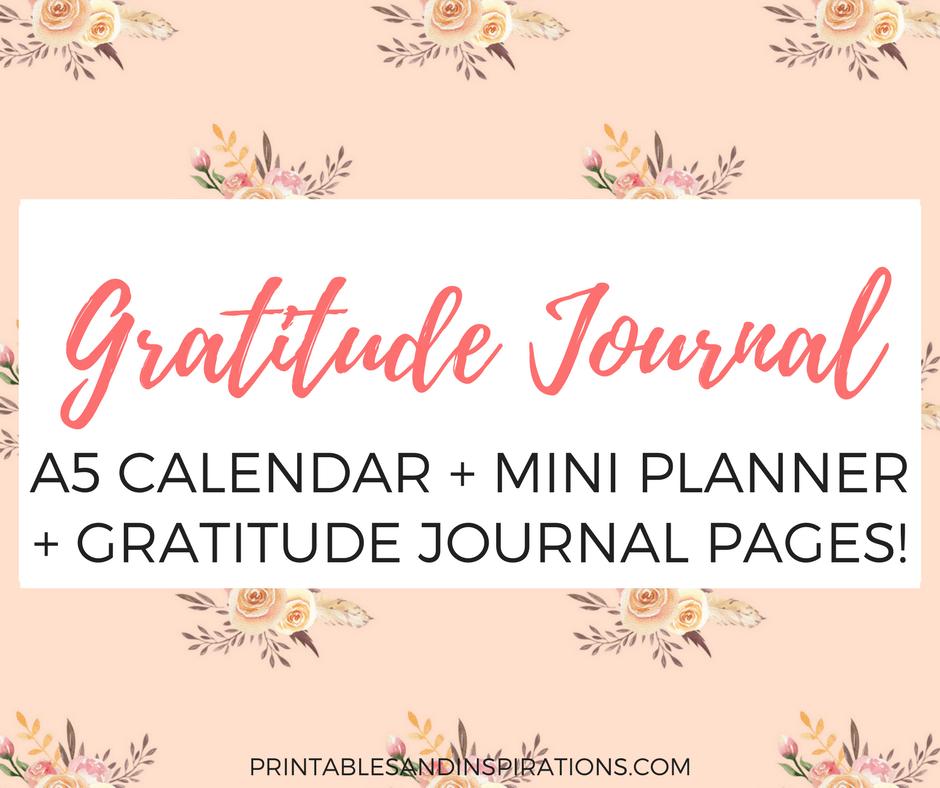 free gratitude journal    planner plus 2018 calendar