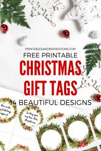 Free Printable Christmas Gift Tags And Cute Love Notes! 14 DIY Christmas gift tags for your loved ones. Free download now! #DIY #freeprintable #printablesandinspirations