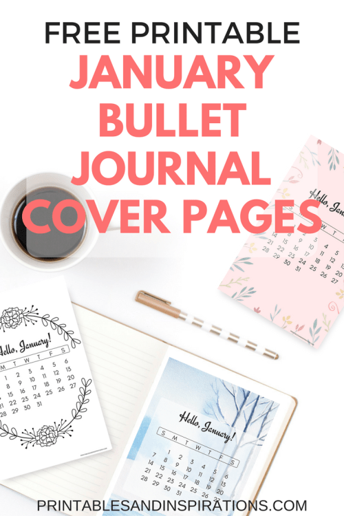 Book Cover Printable January : Free printable january bullet journal cover designs with