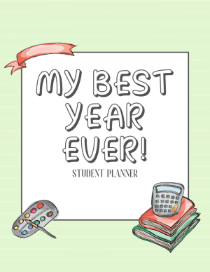 Free printable student binder printable planner for 2020 2021 #backtoschool #printablesandinspirations