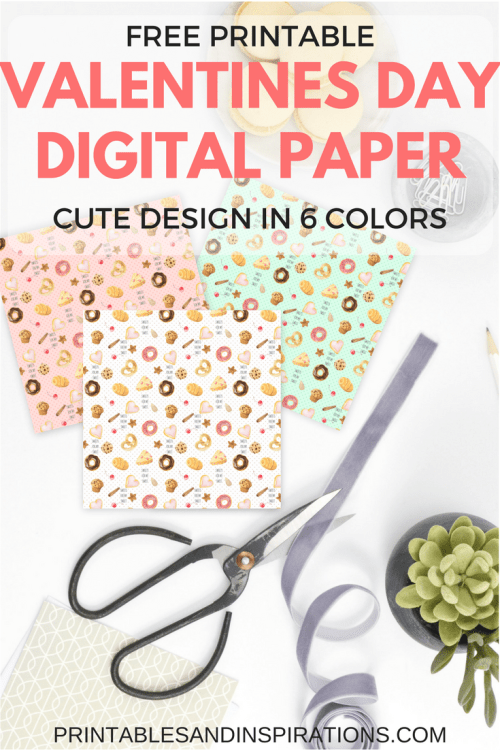 free printable valentines day digital paper for scrapbooking, valentines gift ideas, valentines day decor, bakery design