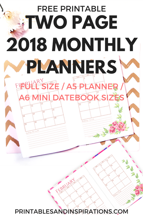 printable calendar pages 2018 free