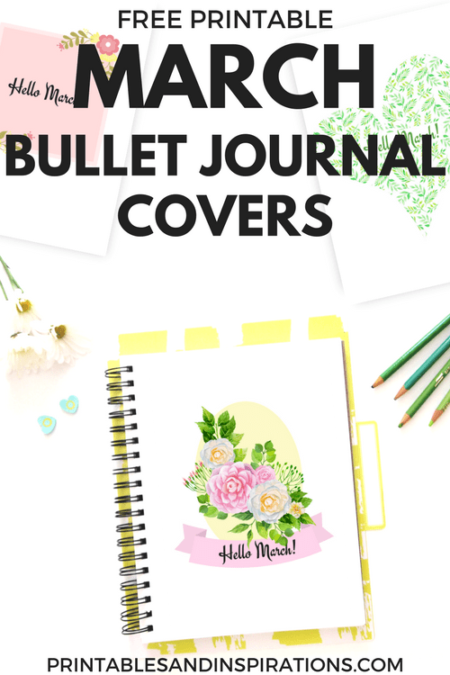 March Bullet Journal Cover - Free Printables! - Printables ...