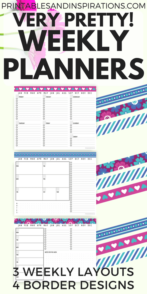 free printable weekly planner, pretty weekly planner printables, weekly spread layout, bullet journal layout, weekly bullet journal, hearts checklist, task list, todo list, meal planner grocery list