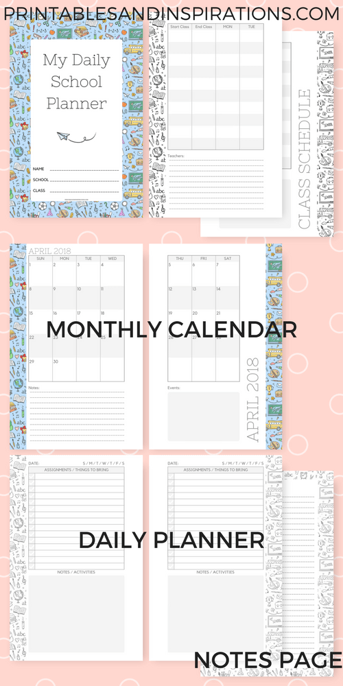 student planner printables