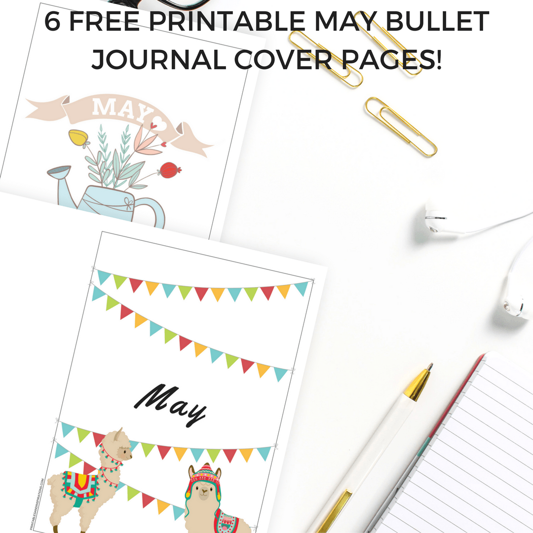 may bullet journal cover page ideas - free printables
