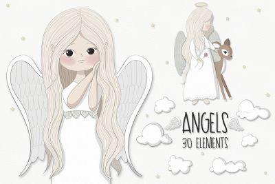 Little angels clipart