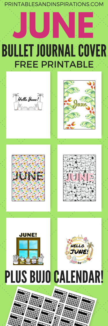 Free printable June bullet journal cover page ideas, June bujo ideas, June bullet journal inspiration, June bujo title page, bullet journal printable