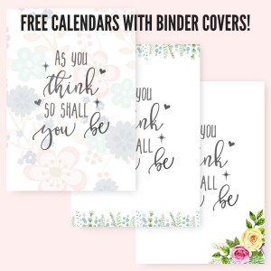 Binder cover page with 2019 Monthly Calendar Two Page Spread - Free Printable! Two pages per month 2019 planner. Choose from cute, fresh, pretty and simple designs! #freeprintable