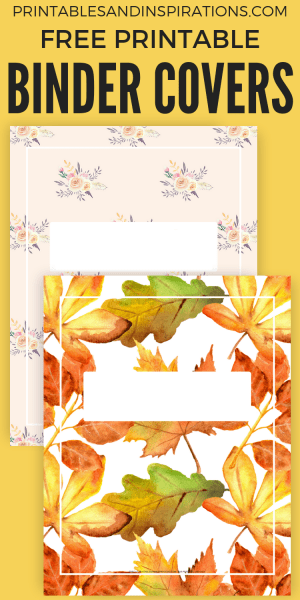 Free Printable Binder Cover Template for US Letter Size! #freeprintable