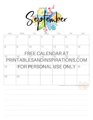 September 2019 Calendar Free Printable Monthly Planner PDF