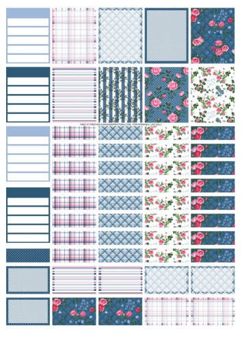 Free Printable Classic Blue Planner Stickers, printable planner stickers #freeprintable #printablesandinspirations #bulletjournal #planneraddict #plannerstickers #bujoideas