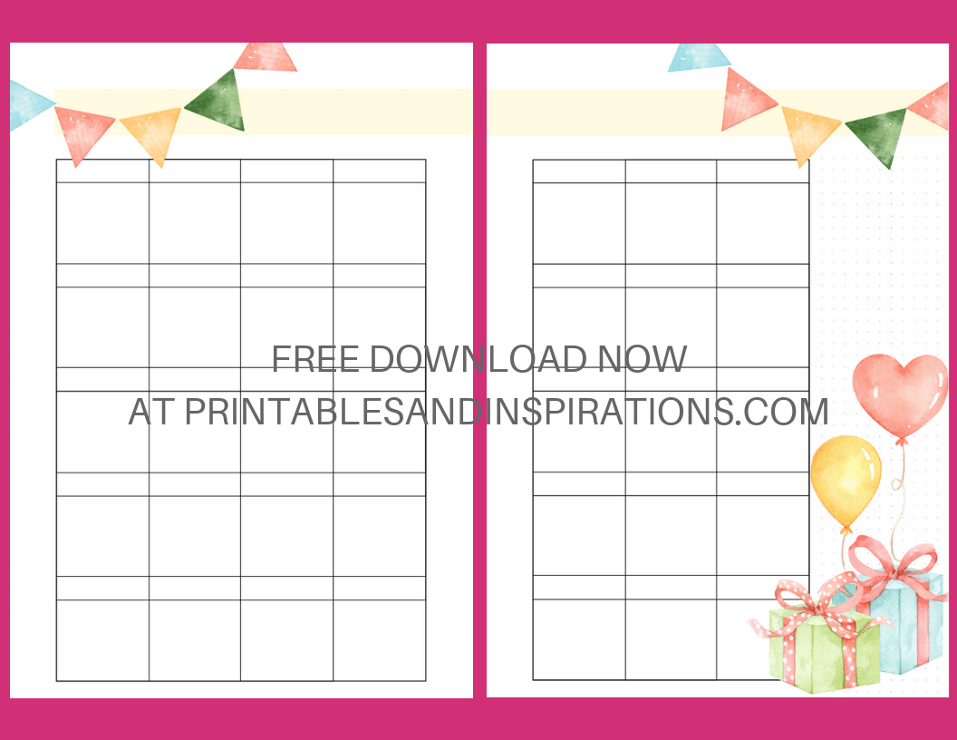 picture relating to Bullet Journal Monthly Spread Printable identified as Bullet Magazine Birthday Printables - Printables and Inspirations