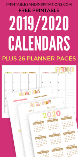 Free Teacher Planner Printable 2019 - 2020 - Printables and
