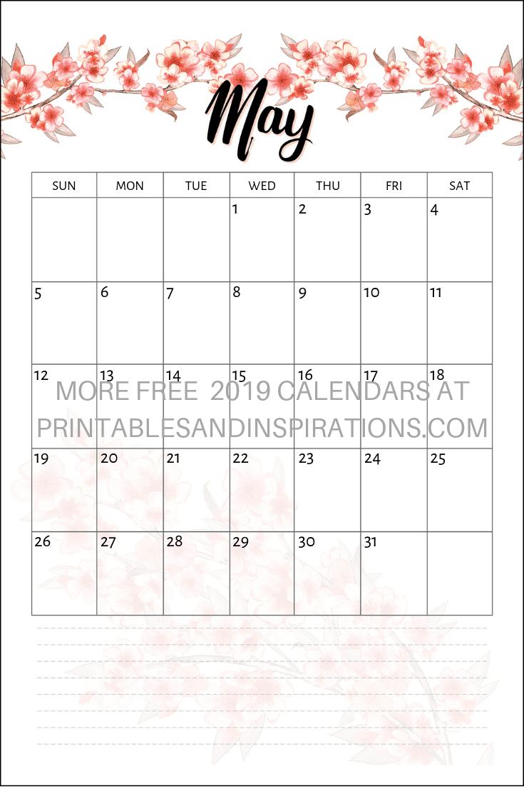 Free Cherry Blossoms Calendar 2019 2020 Planner + Stickers