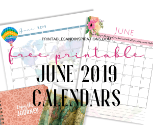 2019 Horizontal Calendar + Weekly Planner! - Printables and Inspirations