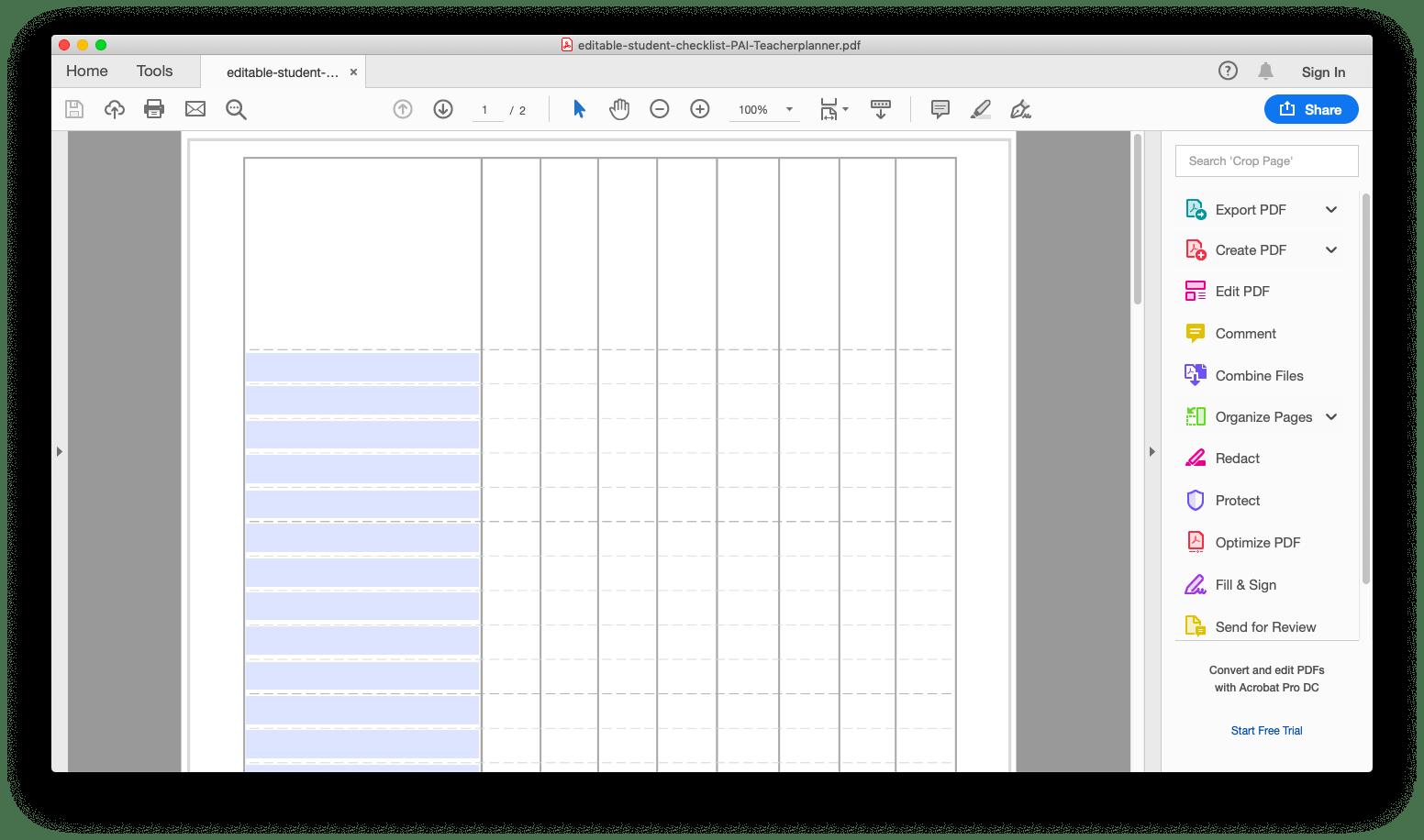 Free Editable Student Checklist Printable PDF - Printables
