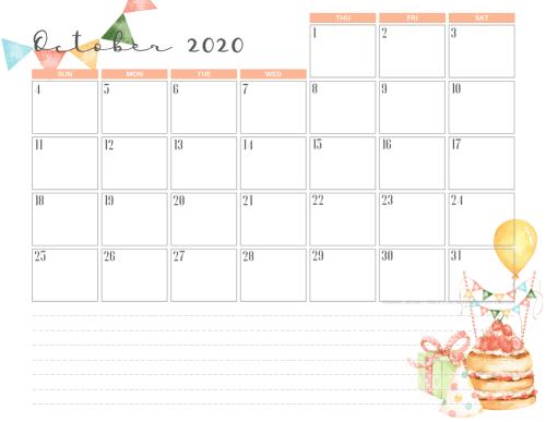 23+ Free Printable Calendars October 2020 Calendar Halloween Theme Background