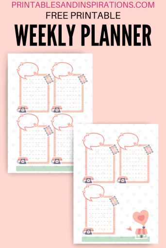 Weekly planner free printable - valentine bullet journal printable template with dot grid #bulletjournal #freeprintable #printablesandinspirations