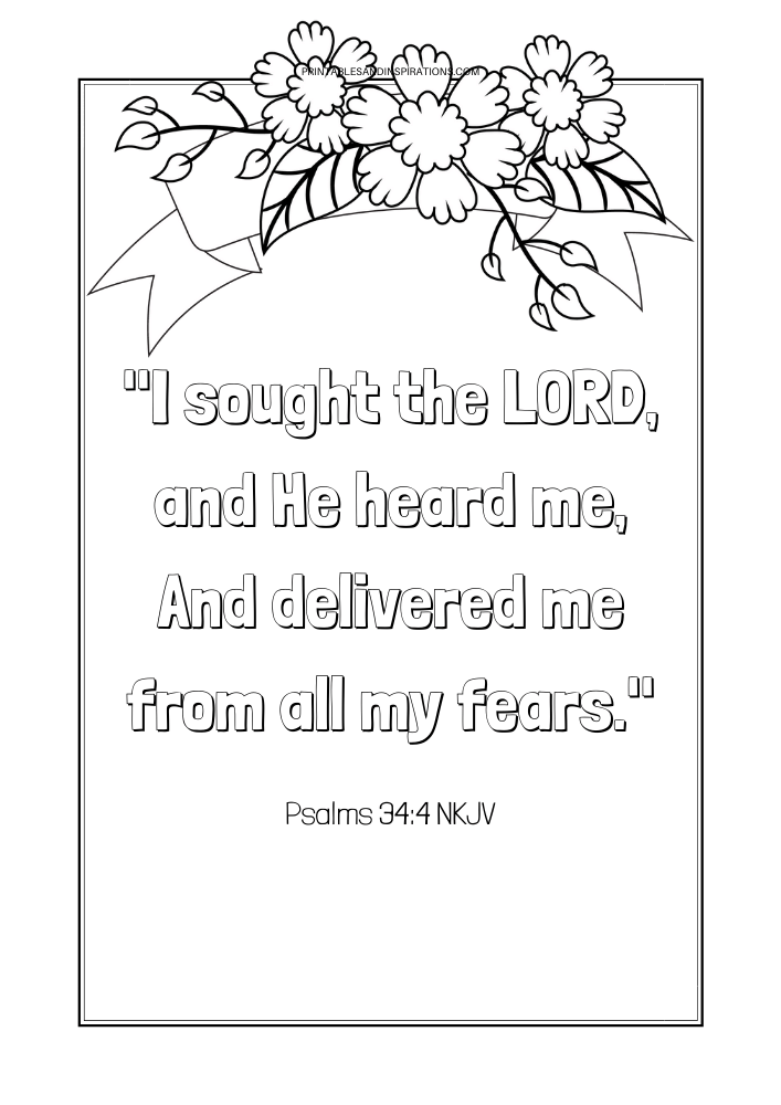 Free Printable Bible Verse Coloring Book - Bible verses about protection. Free download now! #lifeverse #freeprintable #bibleverseoftheday #printablesandinspirations