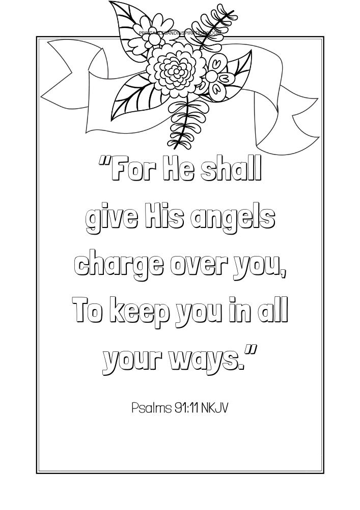 - Free Printable Bible Verse Coloring Book Pages - Printables And Inspirations